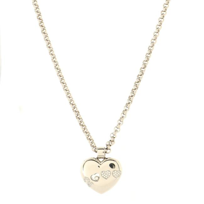 Item - Happy 2000 Heart Pendant Necklace 18k White Gold with Diamond Jewelry