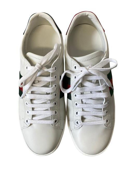 Item - Ace Bee Embroidered Leather Sneakers Athletic