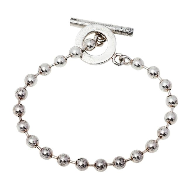 Item - Sterling Silver Bead Toggle Bracelet Jewelry