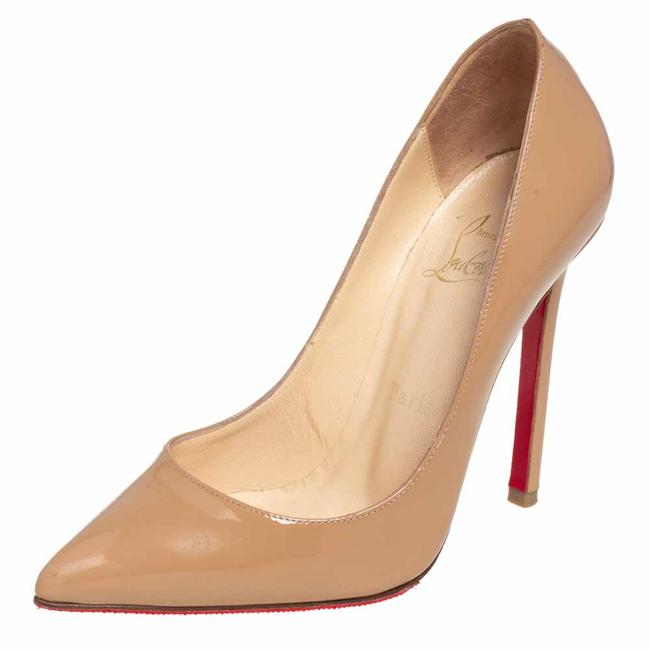 Item - Beige Patent Leather Pigalle Pointed Size 35.5 Pumps