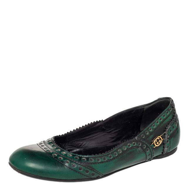Item - Two Tone Brogue Leather Ballet Size 35.5 Flats