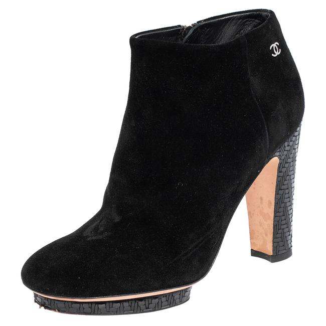 Item - Black Suede Ankle Size 35.5 Boots/Booties