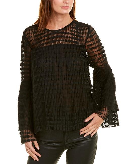 Item - Dotted Mesh Top Mr2142 Blouse