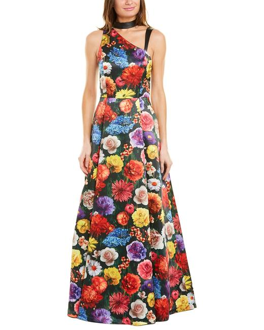 Item - Chrissy Leather-trim Gown Cg902p36501 Night Out Dress