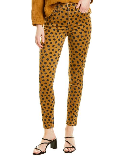 Madewell Egyptian Gold Painted Spots High-rise Skinny Leg Aa553 Pants 14115177130003 Image 1