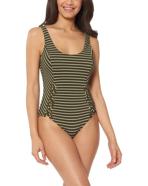 Red Carter Texture Tank Rcdo119836 One-piece Bathing Suit 14117337220002 Image 1