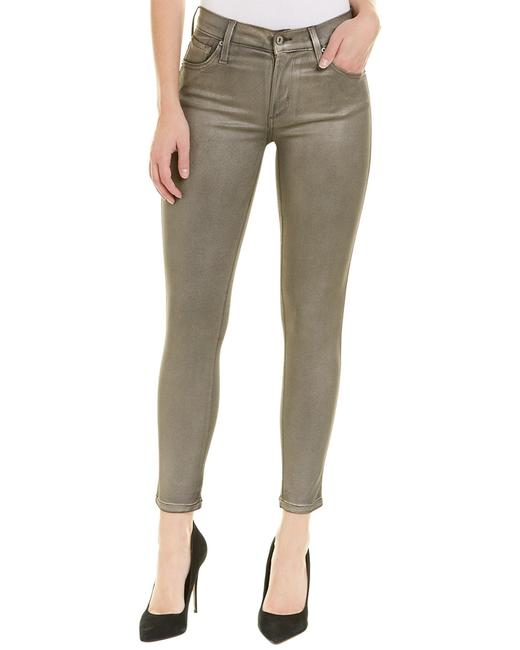 Item - Pewter Twiggy Ankle Glossed Jeggings