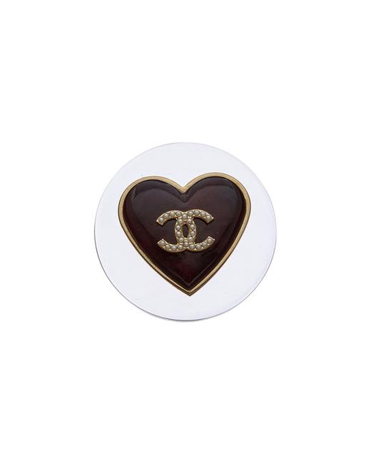 Chanel Pre-owned Gold-tone Clear Acrylic Heart Pin Q6j05400xb001 Tote 11114240240000 Image 1