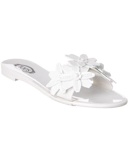 Tod's Floral Leather Xxw68a0w500 Ow0 B001 Sandals 13132194740001 Image 1