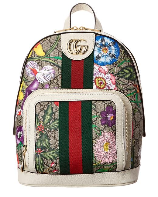 Item - Ophidia Small Gg Flora Canvas & Leather 547965 Hv8dc 8723 Backpack