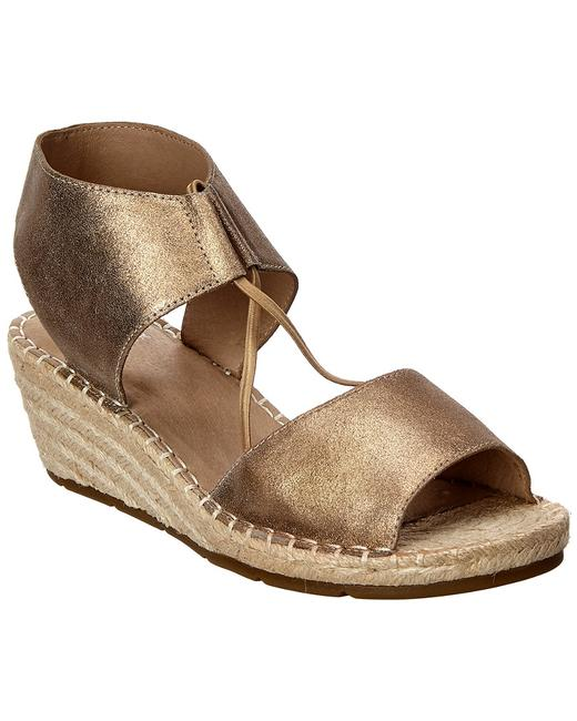 Item - Agnes Leather Espadrille Wedge Agnes-vm Sandals