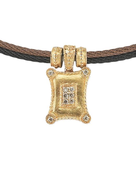 Item - Petra 18k & Stainless Steel 0.22 Ct. Tw. Champagne & White Diamond Necklace 08-56-5055-03 Jewelry