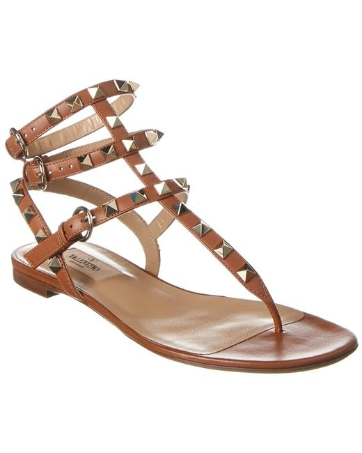 Valentino Rockstud Caged Leather Thong Tw2s0812 Vod Hg5 Sandals 13136842780001 Image 1