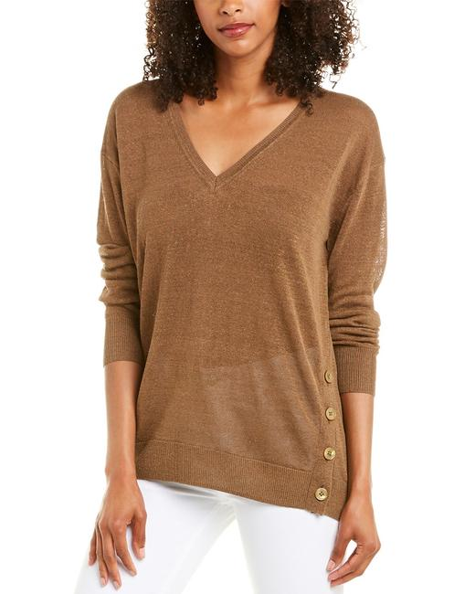 Item - Side Button Linen-blend Top L5608 Sweater/Pullover