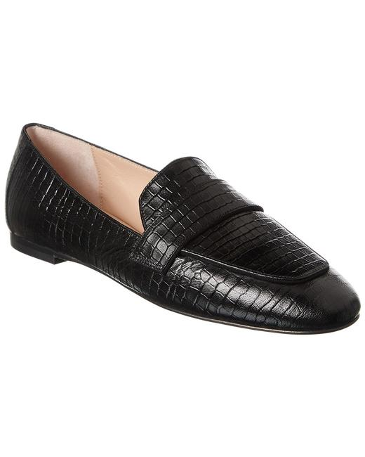 Stuart Weitzman Payson Croc-embossed Leather S5703 Blk Loafers 13116409900000 Image 1