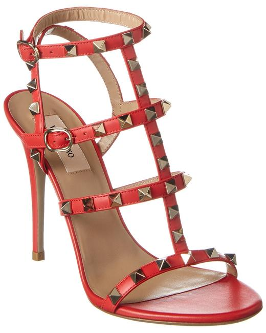 Valentino Rockstud Caged 120 Leather Ankle Strap Tw2s0a27 Vod Ju5 Sandals 13136486400004 Image 1
