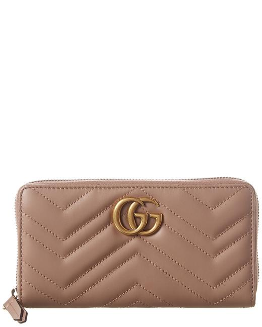 Gucci Marmont Gg Matelasse Leather Zip Around Wallet 443123 Dtd1t 5729 Accessory 11624905440000 Image 1