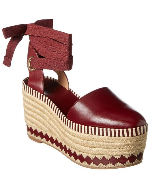 Tory Burch Dandy Leather Wedge 33063-626 Espadrilles 13116527730001 Image 1