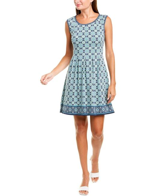 Max Studio Patterned A-line 7904w64 Casual Maxi Dress Max Studio Patterned A-line 7904w64 Casual Maxi Dress Image 1
