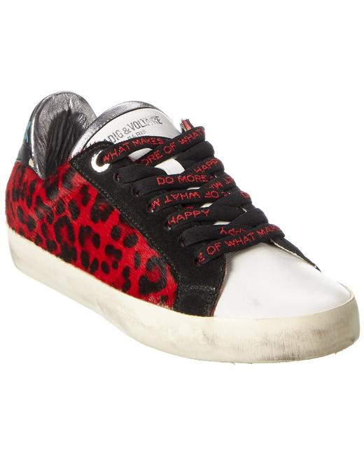 Item - Leopard Haircalf Leather Sneaker Whao1706f Athletic