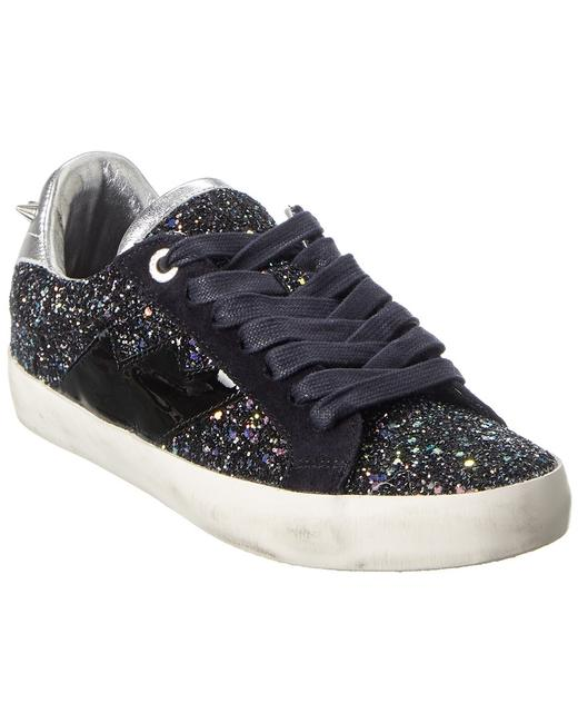 Item - Used Glitter Leather Sneaker Sjao1711f Athletic