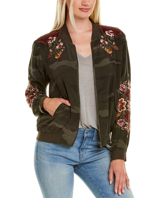 Johnny Was Nepal Silk-lined Bomber Jacket W46519-9 Blazer Johnny Was Nepal Silk-lined Bomber Jacket W46519-9 Blazer Image 1