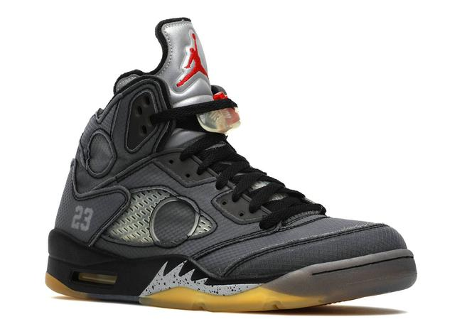 Air Jordan 5 Retro Sp 'off-white' - Ct8480-001 Athletic CT8480-001-5-5 Image 1