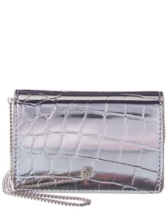 Burberry Jessie Metallic Croc-embossed Leather Card Case On Chain 8022565 Accessory