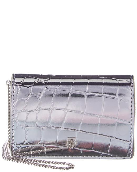Burberry Jessie Metallic Croc-embossed Leather Card Case On Chain 8022565 Accessory 11626338350000 Image 1