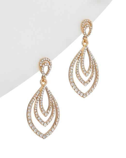 Item - 22k Electroplated Drop Earrings Nv2044gc Jewelry