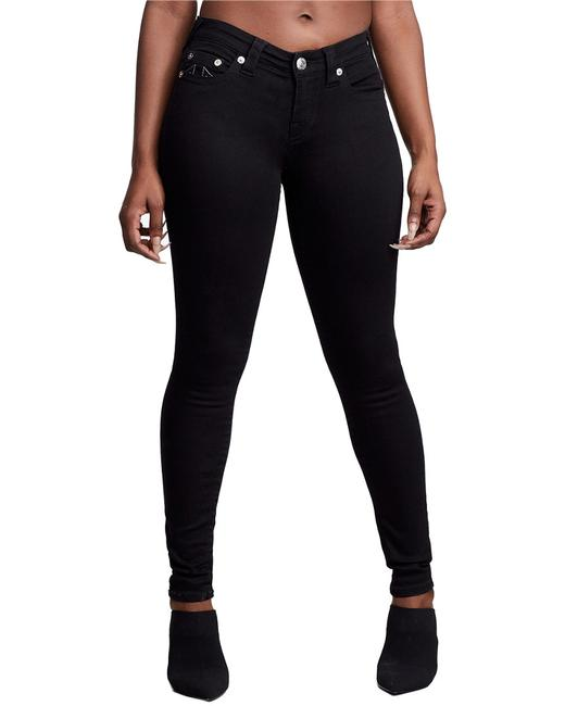 Item - Halle Black High-rise Super Capri 201571 Skinny Jeans