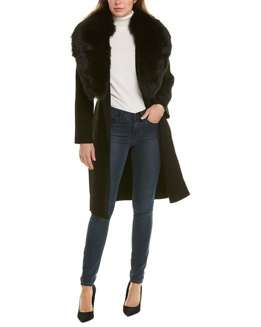 Forte Cashmere Shawl Collar Wool & Cashmere-blend Kl19-96f Coat 14110261780003 Image 1