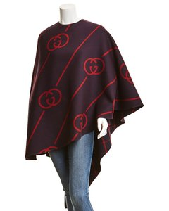 Gucci Interlocking G Wool-blend 569213 Zabxv 4668 Poncho/Cape