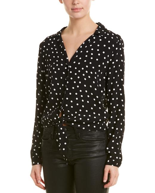 Item - Polka Dot Tie Front Top Anc 7298 Blouse