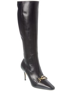 Gucci Zumi Leather Knee 575875 Bko00 Boots/Booties