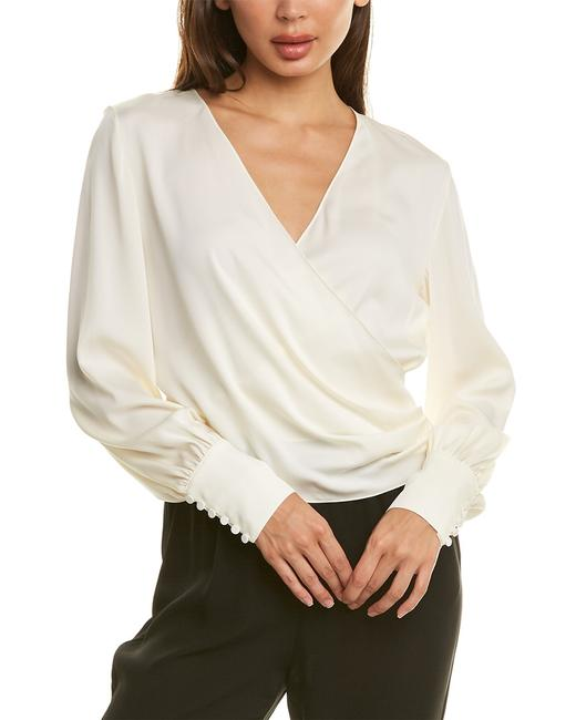 Theory Wrap Silk-blend Top K0202520 Blouse Theory Wrap Silk-blend Top K0202520 Blouse Image 1