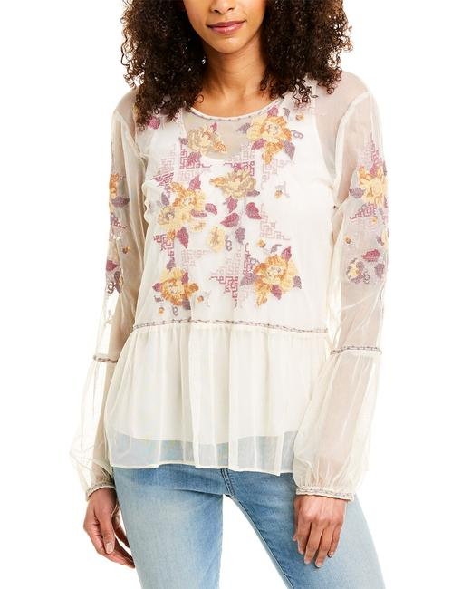 Johnny Was Skyler Embroidered Mesh Top L14219-6 Blouse 14115418040000 Image 1