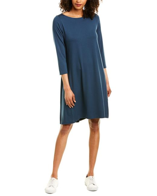 Eileen Fisher Jersey Shift R9ftj-d4647m Short Casual Dress 14112031050002 Image 1