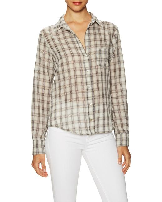 Item - Plaid Button Up Shirt Wfl54257x Blouse