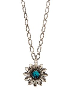 Gucci Marmont Gg Silver Turquoise Necklace Ybb52515500100u Jewelry