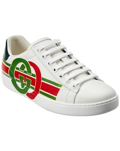 Gucci Ace Interlocking G Leather Sneaker 577145 A38v0 9062 Athletic