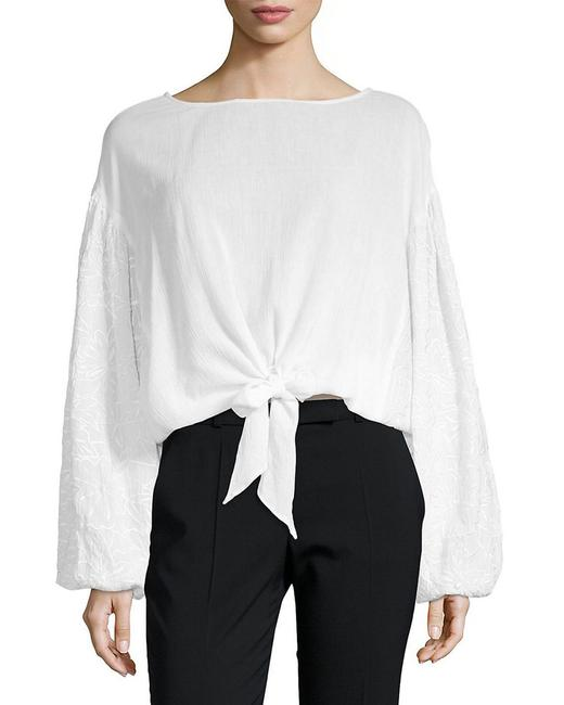 Item - Wendy Tie-front Puff-sleeve Top 400097000000 Blouse