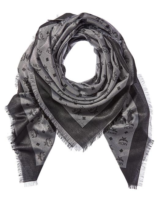 Item - Monogram Jacquard Silk Wool-blend Mef9amm02 Sv01 Scarf/Wrap
