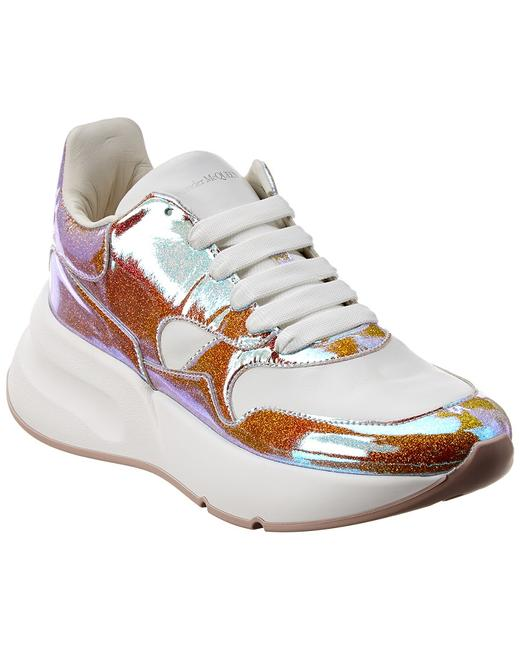 Item - Oversized Glitter Leather Sneaker 586409 W4kv1 8446 Athletic