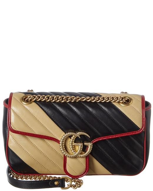 Item - Marmont Gg Small Matelasse Leather 443497 0olox 9689 Shoulder Bag