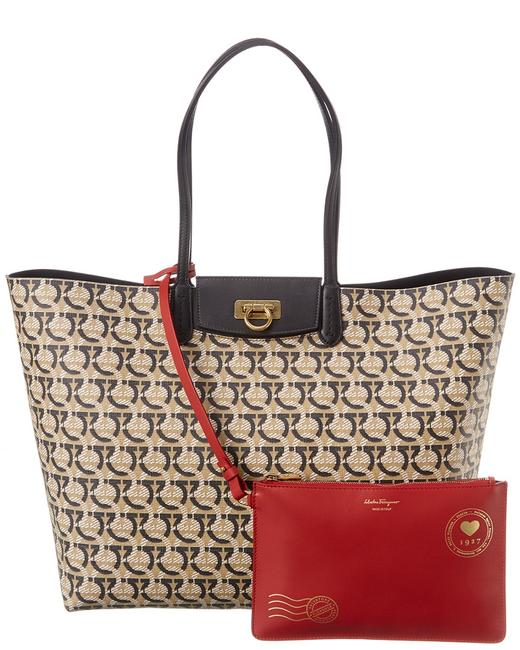 Item - Gancini Canvas & Leather 21h992 726583 Tote