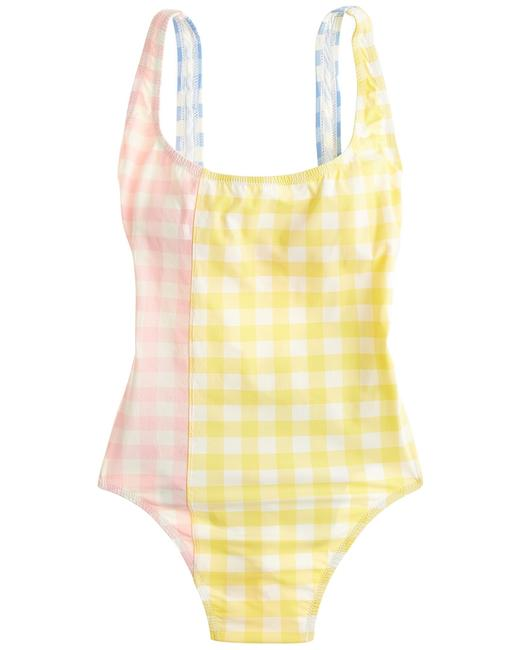 Item - Gingham Mix Retro Scoopback Tank K8057 One-piece Bathing Suit