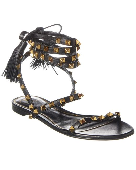 Valentino Rockstud Flair Leather Tw0s0x58 Hyh 0no Sandals 13136640640003 Image 1