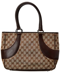 Gucci Pre-owned Brown Gg Canvas Bag 6374-1 Tote