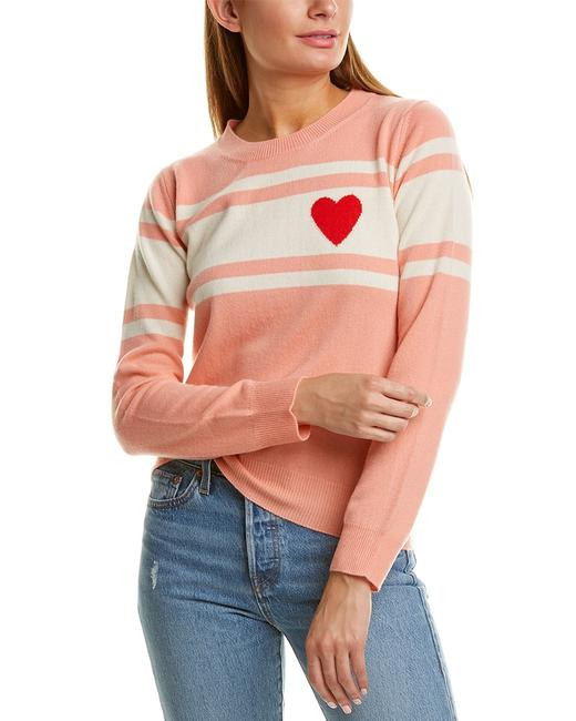 Chinti and Parker Heart Stripe Wool Cashmere-blend Kr25 Sweater/Pullover 14114883380002 Image 1
